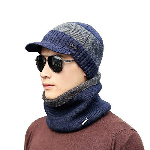 LEADERPAL Winter Warm Knitting Hats Wool Slouchy Beanie Hat Skull Cap