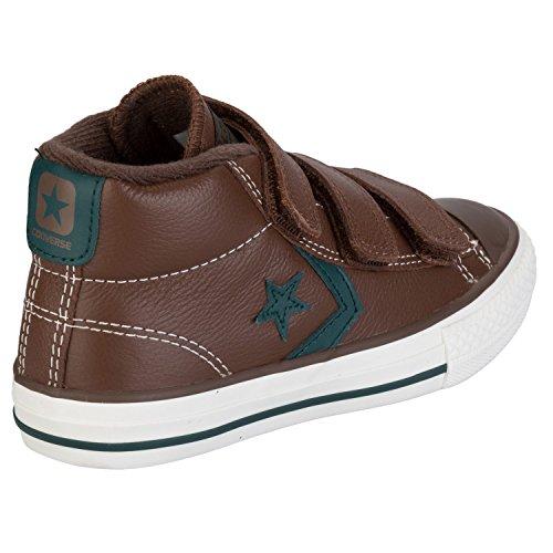 Converse Boy's Star Player Ev Mid Sneaker US5 Brown