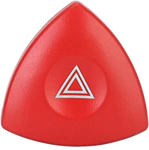 Acouto Hazard Warning Light Switch Red Button Fit for Renault Vehicle Part Car Accessory, 8200442724