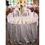 NSC Festive Party Tablecloths Wedding Sequins Sign In Dessert Table Decoration Tablecloth Hotel Layout Set Up ( Size : 330cm )