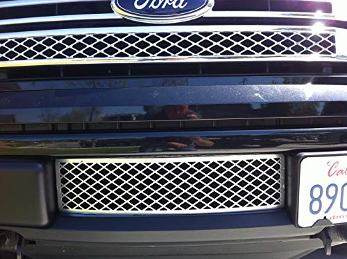 ACCESSPEED Ford F150 Chrome Lower Bumper Grille Insert - Durable ABS Plastic - OEM Style Design Lower Bumper Grille, EcoBoost Grille - Fits 2011 2012 2013 2014 Ford F-150 EcoBoost