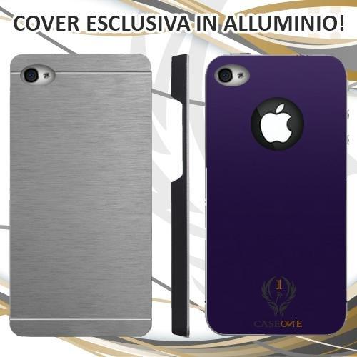 CUSTODIA COVER CASE FIORENTINA PER IPHONE 4 4S IN ALLUMINIO