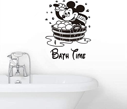 Cute Mickey Minnie Home Glass Door Wall Window Decals Stickers Decor Removable