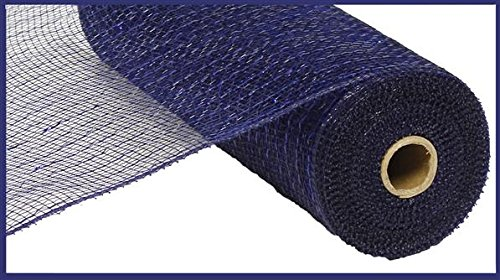 10 inch x 30 feet Deco Poly Mesh Ribbon - Value Mesh (Navy Blue, Royal Blue -