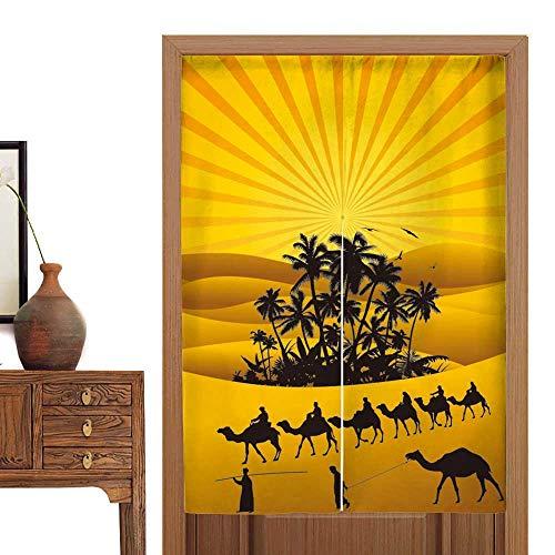 Curtain Cotton Sahara - vanfan Linen Cotton Door Curtain Sahara Lifestyle Camel s Doorway Curtain Tapestry33.5 Wx59 L