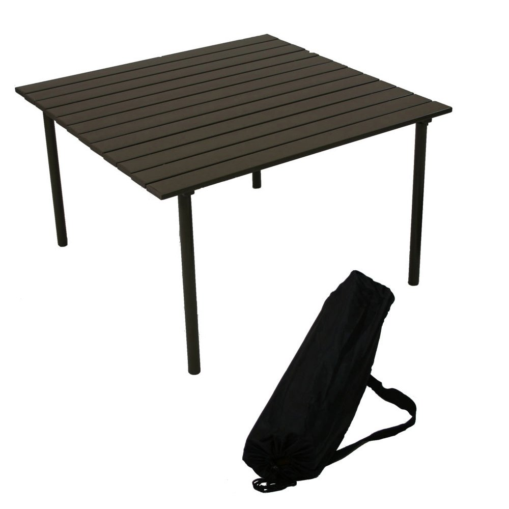 Aspen M2716 My First Central Park Low Aluminum Portable Table in a Bag, Brown