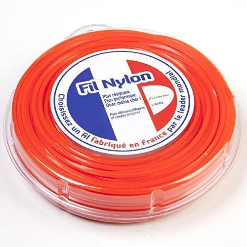 Hilo Desbrozadora Nylon 3 mm x 44 M. Cuadrado. Naranja ...