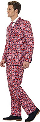 Smiffy's Men's Union Jack Suit with Jacket Trousers and Tie
