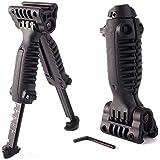 CALISTOUSDE Vertical Bipod Vorhand Grip Bipod Picatinny Schienen-Gewehr Weaver Einstellbare