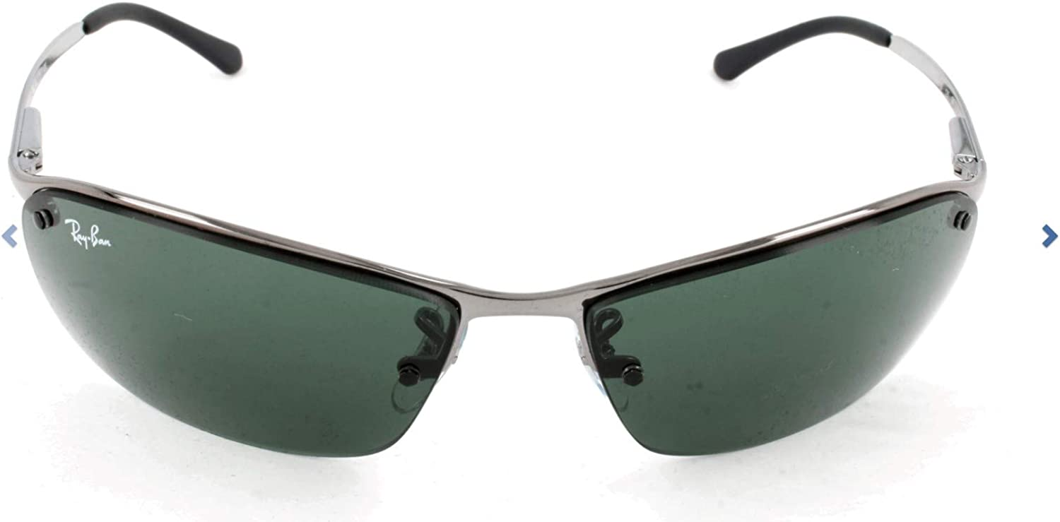 Rayban - Gafas de sol Rectangulares RB3183 Top Bar, Grey (004/71 Gunmetal)