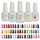 Eleacc pick any 5 colors 15ml Soak Off UV LED Lamp Colors Gel Nail Polish Nail Art Gelpolsih