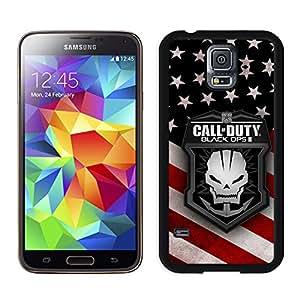 Beautiful Custom Designed Cover Case For Samsung Galaxy S5 I9600 G900a G900v G900p G900t G900w With call of duty Samsung Galaxy S5 Black Phone Case 075