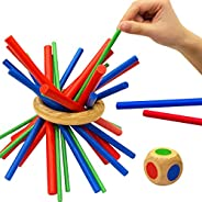 Figetget Keep It Steady Fun Family Games for Kids and Adults - Balance & Patience Training - Wooden Stick