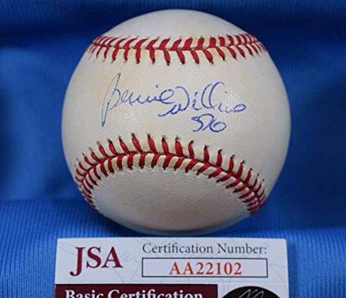 BERNIE WILLIAMS JSA Coa Autograph American League OAL Hand Signed BasebaLL -