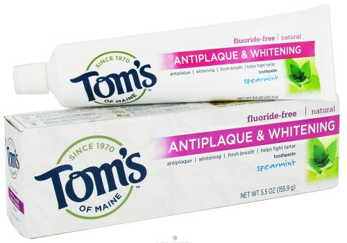 Tom's of Maine Antiplaque Tartar Control plus Whitening Gel Toothpaste-Spearmint-5.5 oz ()