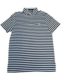 Men's Classic Fit Pony Logo Striped Polo Shirt