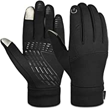 Vbiger Winter Warm Gloves Touch Screen Gloves Driving Gloves Cycling Gloves for Men Women