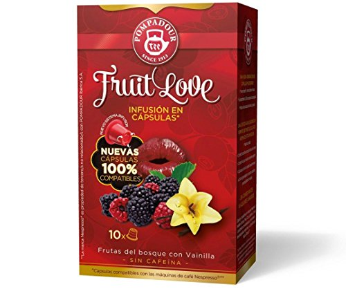POMPADOUR for the ORIGINAL Nespresso system Capsules - Fruit Love TEA (Red Fruits) - 10 caps / sleeve - 80 caps COUNT by Unknown