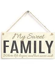 Meijiafei My Sweet Family - حيث تبدأ الحياة والحب لا ينتهي أبدًا - علامة هدية ملحق منزل العائلة المحبب 10 × 5