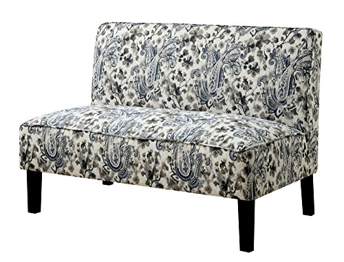HOMES: Inside + Out Cassidy Armless Bench Love Seats (Settee Paisley)