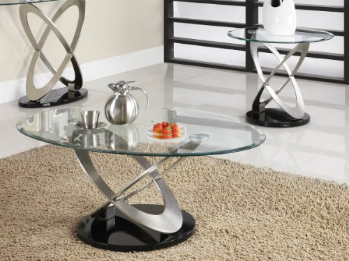Firth 2 Piece Coffee Table Set by Home Elegance in Chrome (Homelegance Contemporary End Table)
