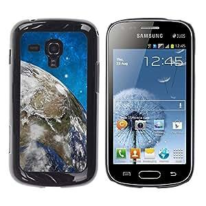 TECHCASE**Cubierta de la caja de protección la piel dura para el ** Samsung Galaxy S Duos S7562 ** Space Stars Blue Sky Earth Universe Planet