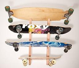 Longboard Wall Rack Mount -- Holds 4 Boards