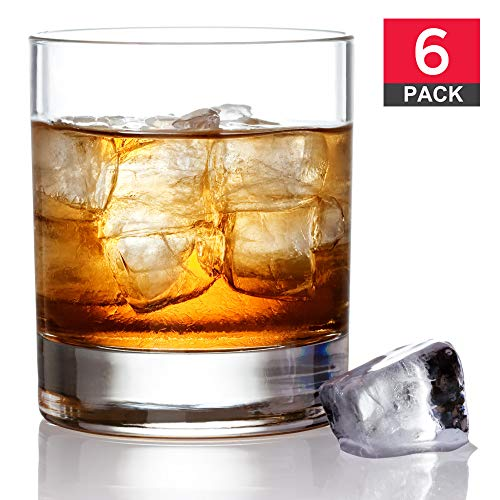 Premium Old Fashioned Whiskey Glass Set, Non-Leaded Imported European Crystal, Scotch Glasses, Rocks Style Glassware for Bourbon and Cocktails, Set of - Cocktail 10 Ounce