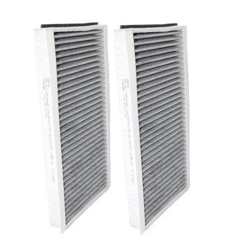 HQRP 2-pack Cabin Air Filter for BMW 525i 2004 / 2005 / 2006 / 2007 Activated Charcoal Microfilter Set plus HQRP UV Meter