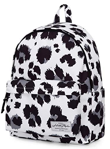 SIMPLAY PLUS Classic Backpack High School Backpack, leopard, White