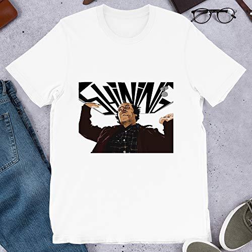 The Shining Cinema Movie Jack Nicholson Film Stanley Kubrick Dr Strangelov Graphic Gift for Men Women Girls Unisex T-Shirt (White-2XL)