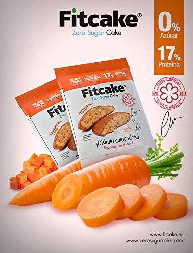 Fitcake® Bizcocho sin azúcar, Proteico, Sin aceite de palma, Dulce y Esponjoso Sabor Zanahoria 6 Uds x 55 gr: Amazon.es: Salud y cuidado personal