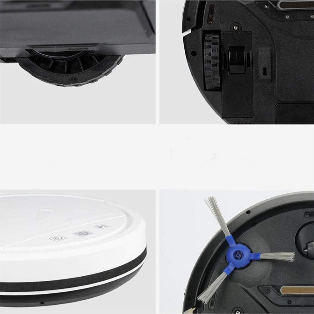 BNMMJ Robot Aspirateur, Type de Planification Automatique Infrarouge Induction Tampon Obstacle Évitement Gyroscope Puce Intelligent Balayage Robot blanc Noir