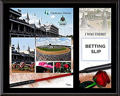 """Kentucky Derby 142 12"""" x 15"""" Sublimated I Was There Betting Slip Plaque - Horse Racing Plaques, and Collages"""