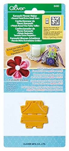 Clover 8490 Kanzashi Flower Maker Round Petal Quilt Pattern, X-Small -