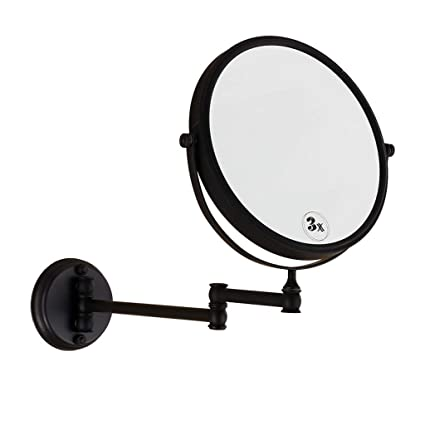 Black Wall Mounted Makeup Mirror Andricca Com