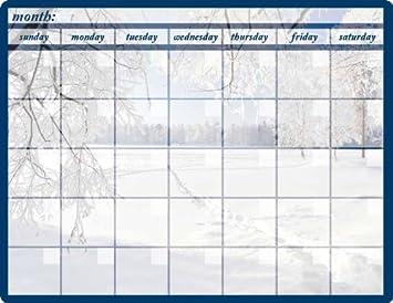 amazon com winter monthly calendar memo board automotive