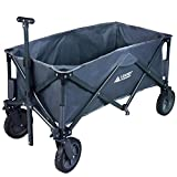 Leader Accessories Collapsible Sports Utility Wagon Outdoor Folding Beach wagon (5 cu. ft.) - Grey