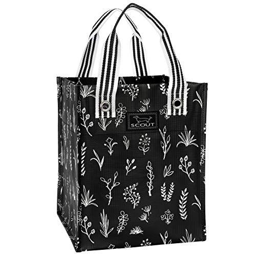 SCOUT Petit BAGETTE Market Tote, Medium Reusable Grocery Shopping Bag with Burst-Proof Reinforced Bottom, Floral of The Story Pattern