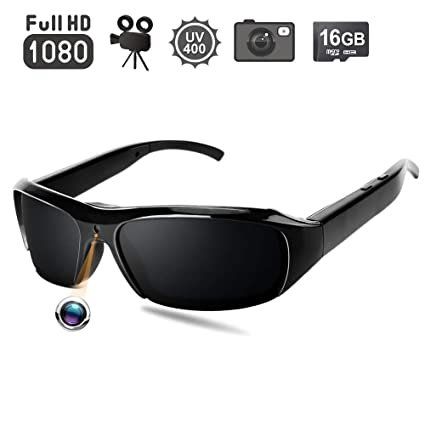 d88f2c585536 Image Unavailable. Image not available for. Color: 1080P HD Sunglasses  Hidden Camera - Video Recording Spy Eyeglasses ...