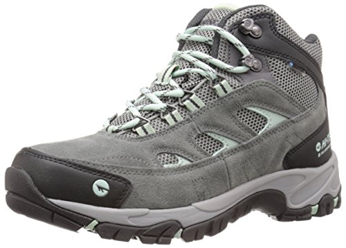 Hi-Tec Women's Wn Logan Mid Waterproof Hiking Boot, Charcoal/Cool Grey/Lichen, 9 M US