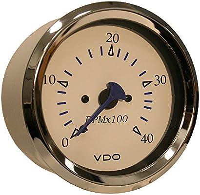 Amazon com: VDO Allentare White 4000RPM 3-3/8 (85mm) Diesel