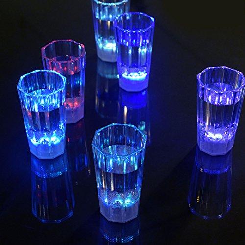 Maison Maxx Liquid Activated Multicolor LED 1.7oz Shot Glass