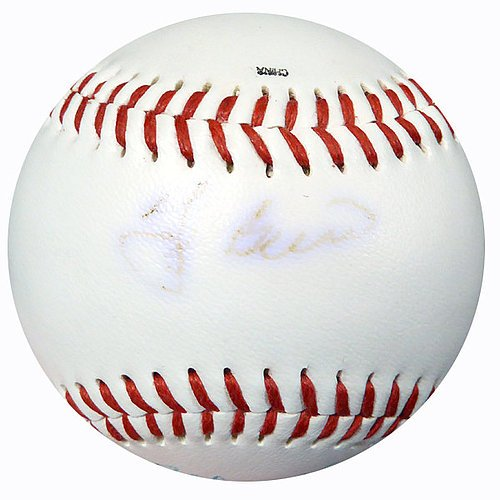 (Baseball Greats Signed Baseball With 4 Signatures Including Berra, Foster & Thomson SKU #111473 - Baseball Collectible)