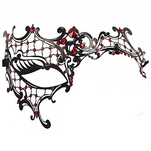 Mask  (Red And Black Fancy Dress)