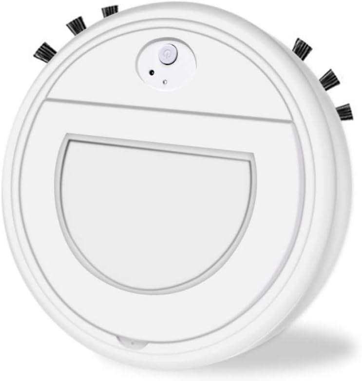 Hankyky Robot Aspirador Inteligente aspiradora Mascota,3 en 1 Robot Aspirador automático y fregasuelos,Aspiradora Robot para Suelos Duros Y Alfombras,USB Recargable,para Mascotas,moqueta