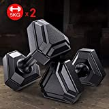 Amon Dumbbell Set with Fixed Weights Hex Rubber Weights Workout Dumbbells Sporting Goods Set of 2 Body Sculpting Hand Weights Dumbbell Set - Supplies for Workout,Body Building,Gym (Color : 10KG)