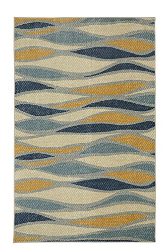 Mohawk Home Aurora Line Works Wavy Printed Area Rug, 5'x8', Multicolor
