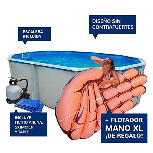TOI - piscina IBIZA OVALADA 550x366x132 cm Filtro 6 m³/h: Amazon ...