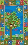 Kid Carpet FE722-34A Forest Nylon Area Rug with Animal Alphabet, 6' x 8'6'', Multicolored